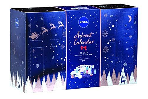 NIVEA Calendario de Adviento 2019 para ella, exclusivo de Amazon, contiene 24 brillantes regalos de belleza