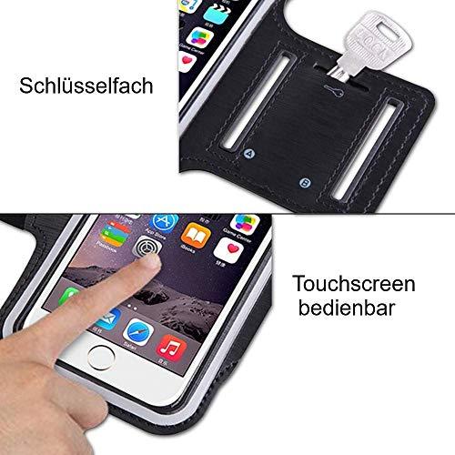 CoverKingz Sportarmband für Samsung Galaxy Note10+ - Armtasche mit Schlüsselfach Galaxy Note10+ - Sport Laufarmband Handy Armband Schwarz