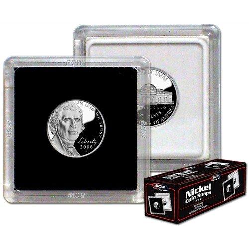 BCW 1-CS-NIC New 2X2 Coin Snap – Nickel – Black