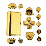 Auntwhale Fashion Buttons Mod Kits Set Chrome Gold For Sony PS4 Gamepad Joystick^