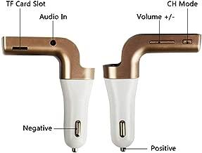 Transmissor Fm Veicular Car G7 Bluetooth Usb/sd - Dourado/