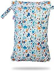 Petit Lulu Waterdichte dubbele luiertas, wetbag organizer, luiertas, neustas voor stoffen luiers, vochtbescherming, waterdichte wet bag