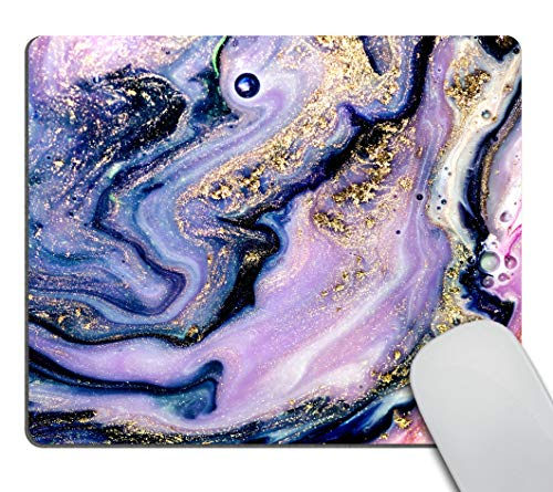 Smooffly Psychedelic Art Gold Mouse pad, Colorful Natural Luxury Gouache Landscape Customized Rectangle Non-Slip Rubber Mousepad Gaming Mouse Pad