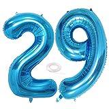 SNOWZAN - Globo de 29 cumpleaños decorativo, diseño de niña, número 29, número 29, números grandes, 29 años, XXL 29, Happy Birthday 32 pulgadas, número gigante 29 cumpleaños para fiesta