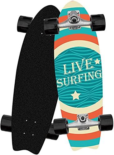 TYSJL Tabla de Surf de 32 Pulgadas de principios, Deportes de Tablas de Surf, Cepillado de la Calle, Tablero de Pescado Grande, patineta para Caminar, Soporte CX4, no.4 (Color : No. 7)