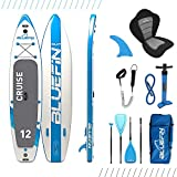 Bluefin SUP Stand Up Inflatable Paddle Board with Kayak Conversion Kit (Ultimate iSUP Kayak Bundle)