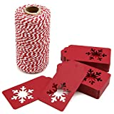300 Feet Red and White Twine and 100 PCS Gift...