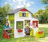 Smoby - Maison Neo Friends House - Cabane de Jardin Enfant - Personnalisable avec Accessoires Smoby - Sonnette Incluse - 810203