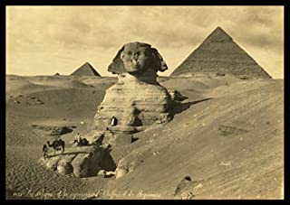 PH02 Vintage 1800's Photo Egypt Egyptian Sphinx Pyramids Photograph Poster Re-Print - A3 (432 x 305mm) 16.5
