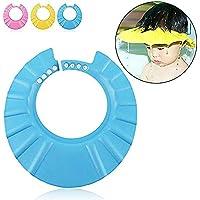 Newin Star Gorro para Ducha,Suave Sombrero de baño,Protección Gorro y sin Irritarse los Ojos de bebé y niños(Azul)