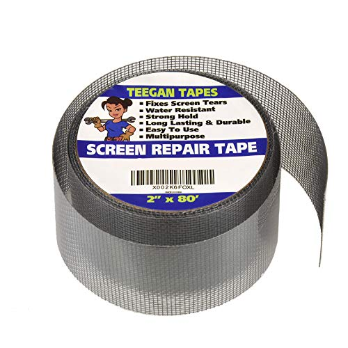Screen Door Repair Tape | Fiberglass Covering Wire Mesh Tape | Strong Adhesive | Repair Hole Tears | Home, Camper, RV, Cottage | 2 Inch X 6.7 Feet