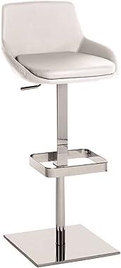 Casabianca Furniture LAURA Italian White Eco-Leather Bar Stool by Talenti Casa