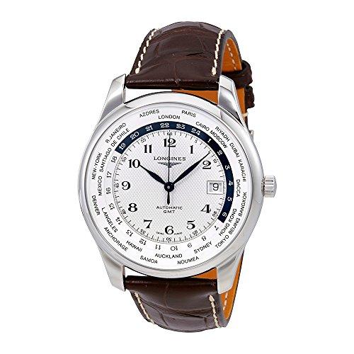 Longines Master automático GMT Plata Dial Mens Reloj l2.802.4.70.3