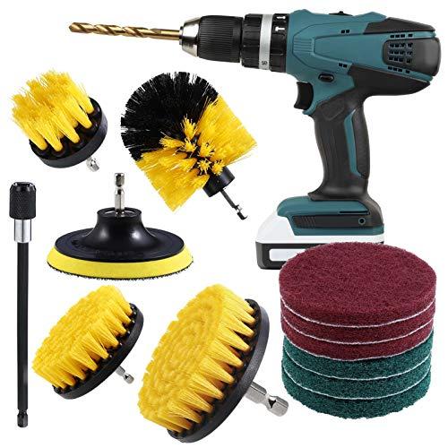 metagio Juego de 13 brochas de taladro para taladro y accesorios de cepillo de limpieza eléctrico para ahumador, kit de cepillos de limpieza para cocina, baño