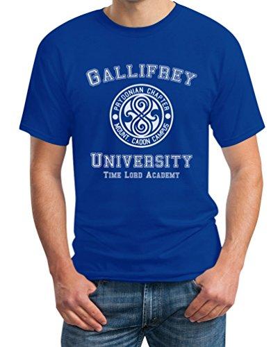 Gallifrey University T-Shirt - Doctor Time Academy Who, Blau, XXL