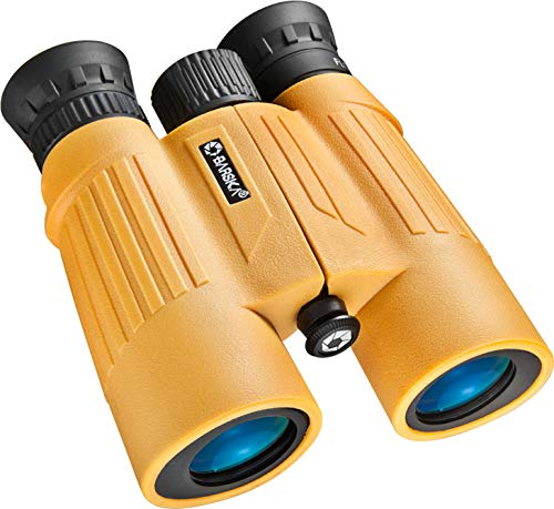 BARSKA 10x30 WP Floatmaster Binoculars (Blue Lens, Yellow)