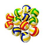 MagiDeal 12pcs Set PU Soft Bouncy Volleyball Squeeze Venting Ball Stress Reliever Pet Training Toy Relaxation Aids Gift
