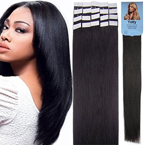 Yotty Hair 高級な Extensions Tape in Seamless Remy Weft Skin 店舗 Human