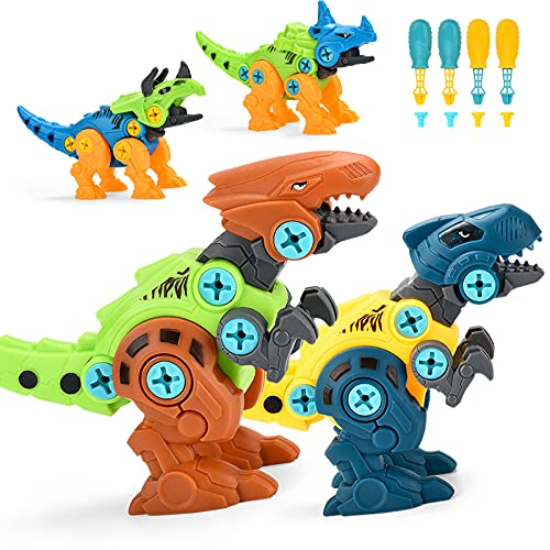 ALLCELE Dinosaurier Montage Spielzeug, 4...