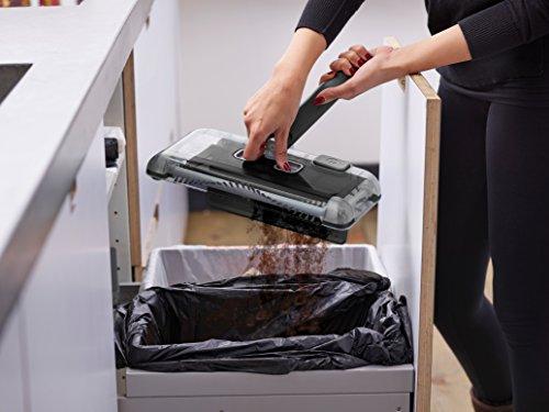 Black+Decker PSA215B-QW 7.2V, 1.5Ah Lithium Akku-Kehrbesen, Laufzeit 60 min, für kurzflorigen Teppiche und Hartböden, kabellos, beutelos, aufladbar, schwarz, PSA215B, Acrylic, 300 milliliters, Grau - 5