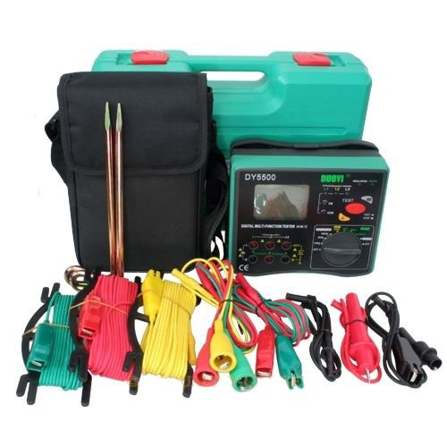 DUOYI DY5500 4 in 1 Multimeter Insulation Tester Earth Tester Voltmeter Phase Indicator