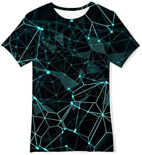 Idgreatim - Camiseta de manga corta para niños y niñas con impresión gráfica en 3D, Estilo 9., 12-14 Años
