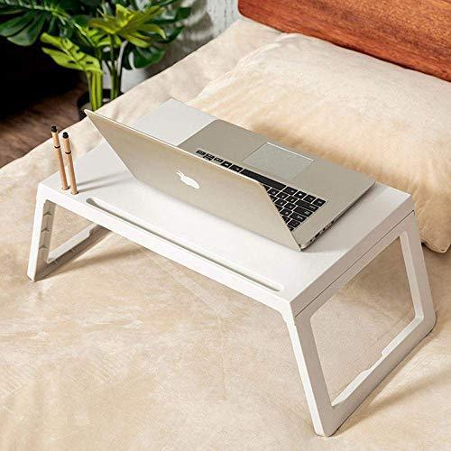 1yess Klapptisch Bett Klapptisch Laptop im Freien kampieren tragbaren Esstisch Schlafsaal Bett Computer Auflagetisch, dunkelgrau 8bayfa (Color : White)