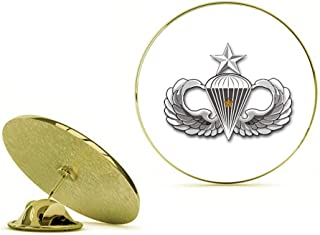 HOF Trading Gold US Army Senior 1 Combat Jump Wings Gold Lapel Pin Tie Suit Shirt Pinback