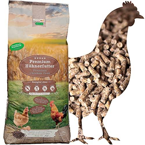 ChickenGold Hühnerfutter - 25kg Legekorn - ohne Gentechnik - Legefutter für Legehennen