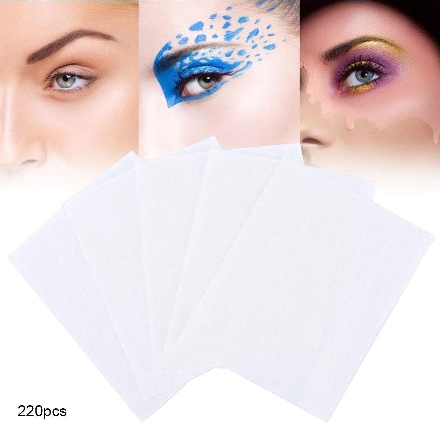 のれんフレームワーク吸収剤220枚 化粧コットンパッド 化粧の除去とスキンケアのための使い捨てフェイシャルワイプタオル