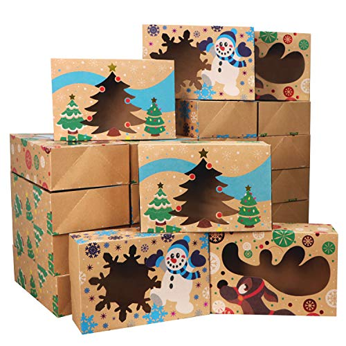 24 Christmas Bakery Treat Boxes for