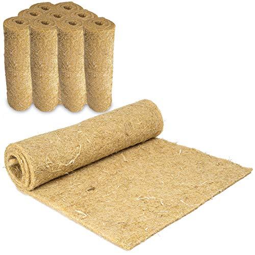 Nagerteppich aus 100% Hanf, 120 x 50cm, 5mm dick, 9er Pack(4,66 Euro/Stück), Hanfteppich für alle Arten Kleintiere, Hanfmatte Nagermatte Nager-Teppich