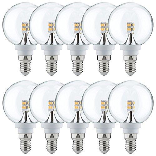 10 x Paulmann LED Mini Globe G60 2,5W fast 25W E14 Klar Kugel Warmweiß 2700K