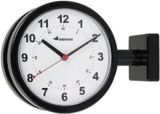 ダルトン(Dulton) 掛け時計 ブラック W28.5×D9×H20.5cm ダブルフェイスクロック S624-659BK