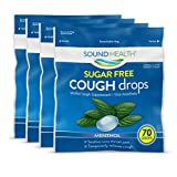 Best Brands Of Cough Drops - SoundHealth Sugar-Free Cough Drops Suppressant Throat Lozenge, Menthol Review