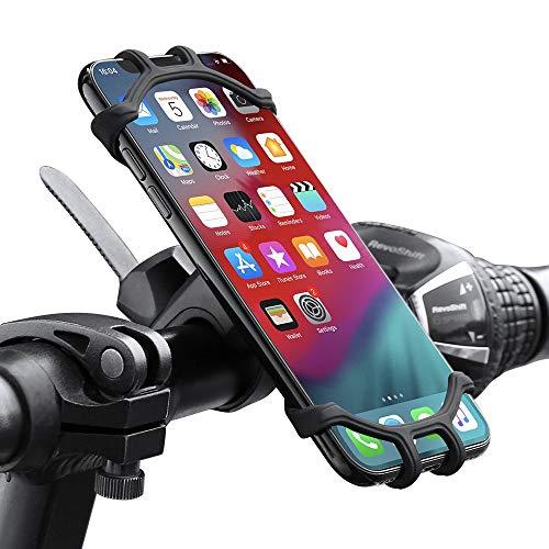 SHU CS Titular del teléfono Bicicleta Bicicleta Titular de teléfono móvil Motocicleta Suporte Celular Ajuste para iPhone Samsung Xiaomi gsm Houder Fiets (Color : Black)