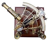 8インチの海上海洋の船長の六分儀 - 真鍮の航海の六分儀。 C-3083