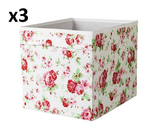 X3 Einheit für EXPEDIT Cath Kidston ROSALI Aufbewahrungsbox IKEA DRONA (Set mit drei)
