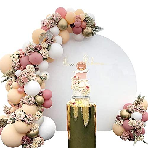 Formemory Luftballons Girlande 105 Stück Party Dekoration Set mit Beige Weiß Latex Helium Ballons, Matellic Gold Luftballons, Ballonkette, Ballonbogen Streifen für Geburtstag Baby Shower Hochzeit Deko