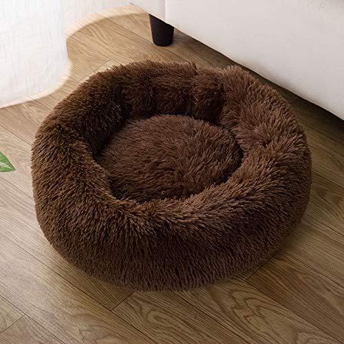 猫 ベッド ペットベッド クッション マット ペットソファ ラウンド型 もふもふ 丸型 ドーナツふわふわ もこ...