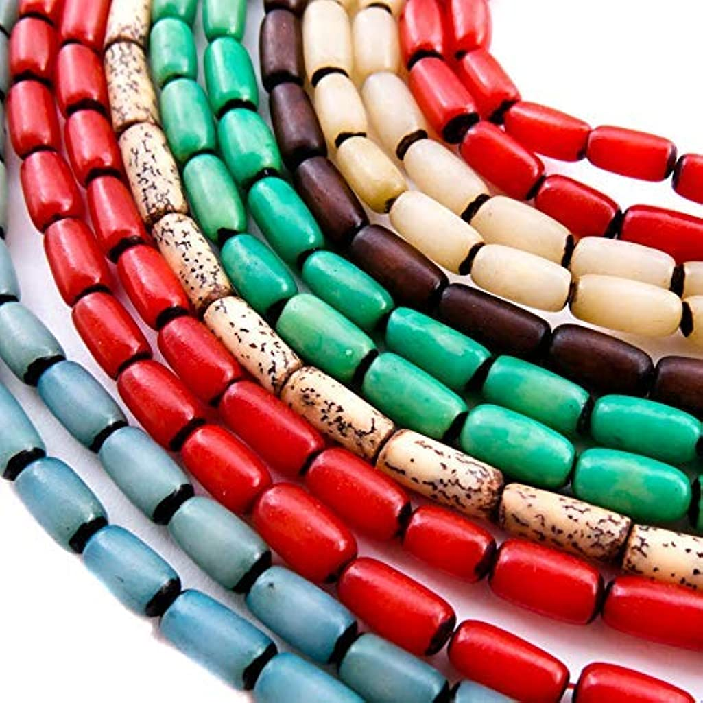 350 PCS Beads for Jewelry Making - Buri and Betel Nut Bead Strands with 2 Free Necklaces for Inspiration - Great for Native American, African, Tribal, Indian Theme Bracelets and Accessories