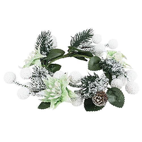 Ideen mit Herz Deko-Kranz | Weihnachten & Winter (Tannenzapfen, beschneit - Ø13cm)