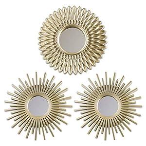 BONNYCO Espejos Pared Decorativos Pack 3 Espejos Decorativos Ideales para Decoracion Casa, Habitación y Salón | Espejos Redondos Pared Regalos Originales para Mujer | Decoracion Pared