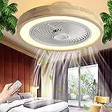 YUnZhonghe Ventilatore a soffitto silenzioso con illuminazione LED Plafoniera Dimmerabile con telecomando Lampada da soffitto per ventilatore in legno creativo moderno illuminazione a soffitto per sal