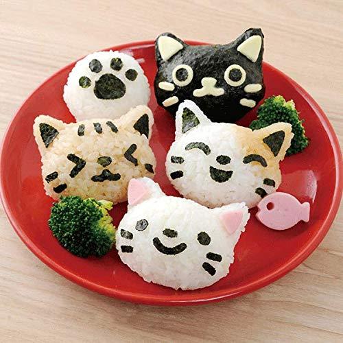 EgBert 4Pcs/Set Pp Kawaii Cat Rice Mold Sushi Egg Chocolate Mold DIY Kitchen Tool