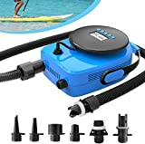 SUP20D 20PSI Double Stage Electric Air Pump for Inflatable SUP and Boat, New Version Intelligent Firmware with Built-in Temperature Sensor and Voltage Protection