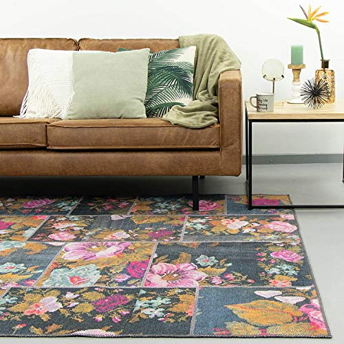 FRAAI | Home & Living Patchwork Rozenkelim Teppich - Rosa Pink (160x230cm)