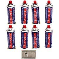 VALVULA CARB0005 botella camping gas Envio 24Horas 6 CARTUCHO GAS BUTSIR 190 GRS bombona perforable con limitador de fugas