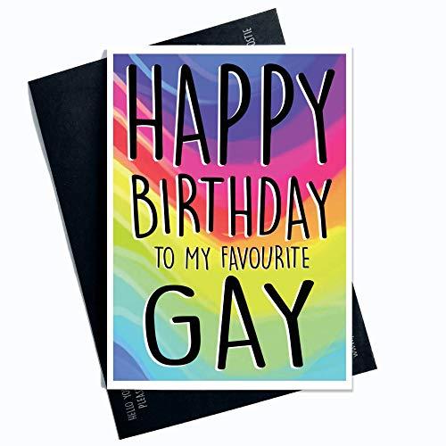 Lustige Geburtstagskarte für Schwule, Geschenk für beste Freunde, Geburtstagsgeschenk, Happy Birthday To My Favourite Gay Neuheit Witz PC365
