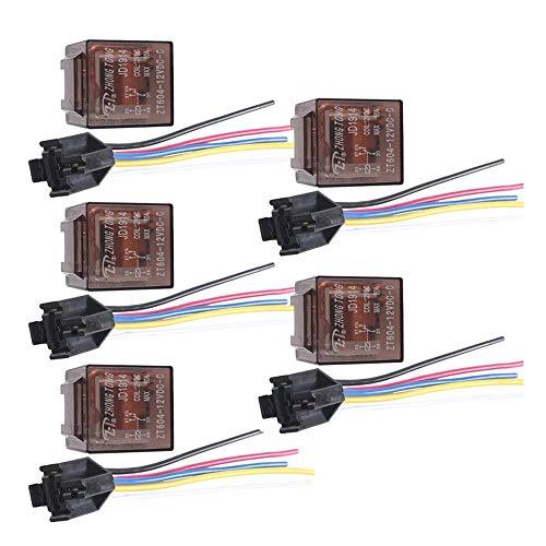 Mintice trade; 5 X 60A 12V kit voiture relais 5 broches pour la pompe à carburant de ventilateur électrique robuste prise de courant fil